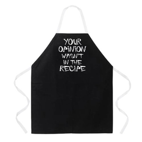"Attitude Aprons ""Your Opinion"" Apron"