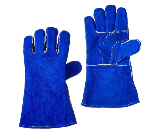 US Forge 400 Welding Gloves Lined Leather - Blue - 14""