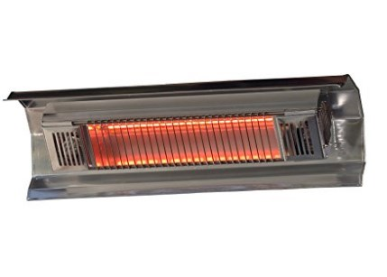 Fire Sense Indoor/Outdoor Wall-Mount Infrared Heater - Available in Black or Silver