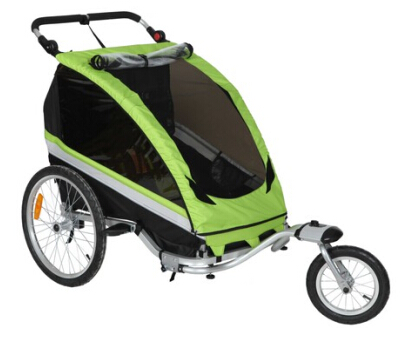 Sepnine Luxurious Baby/Toddler Aluminum Frame Bicycle Trailer with Extra Storage Space