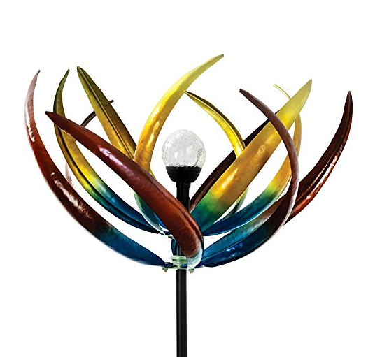 Bits and Pieces Multi-Color Tulip Wind Spinner