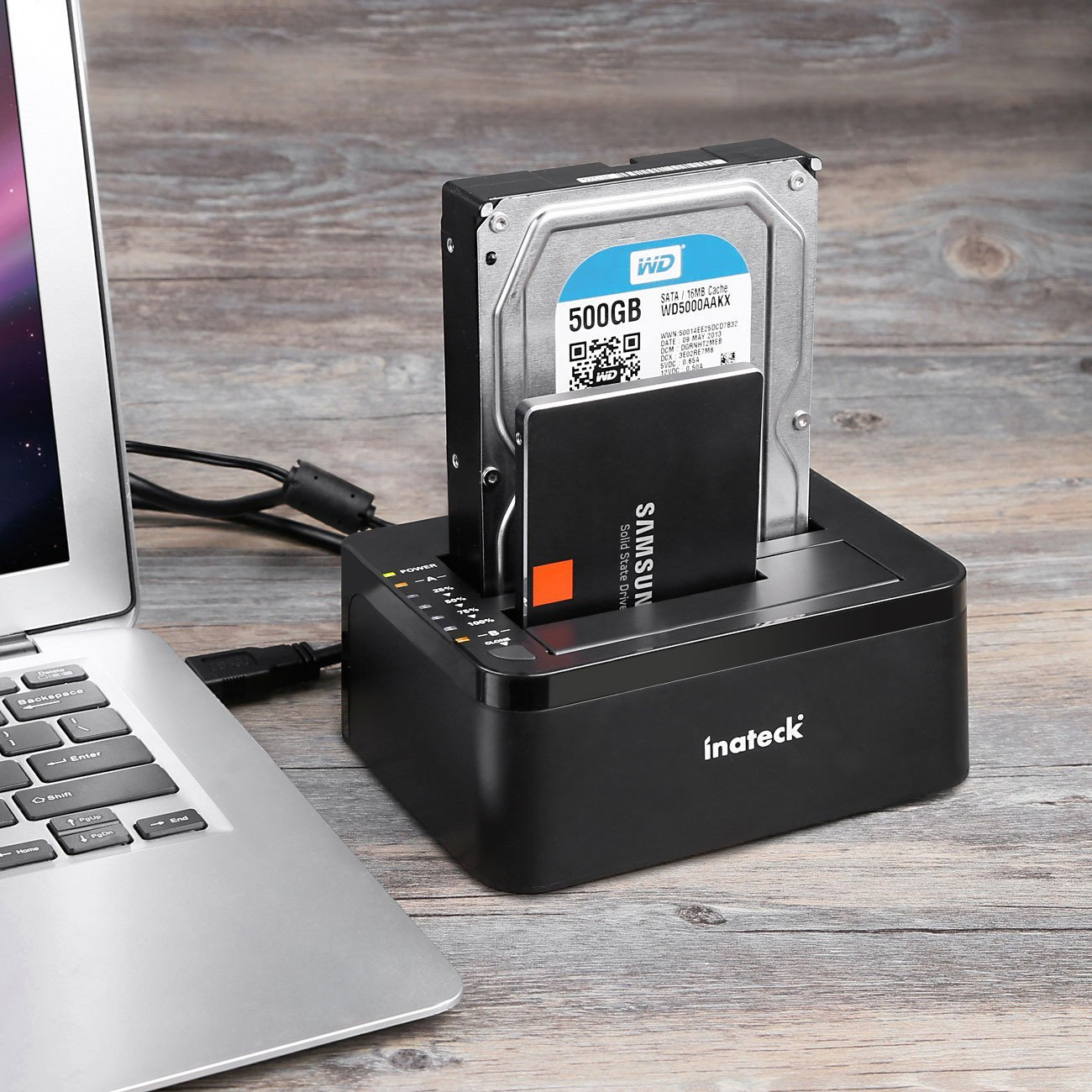 Inateck Dual-Bay Hard Drive Docking Station