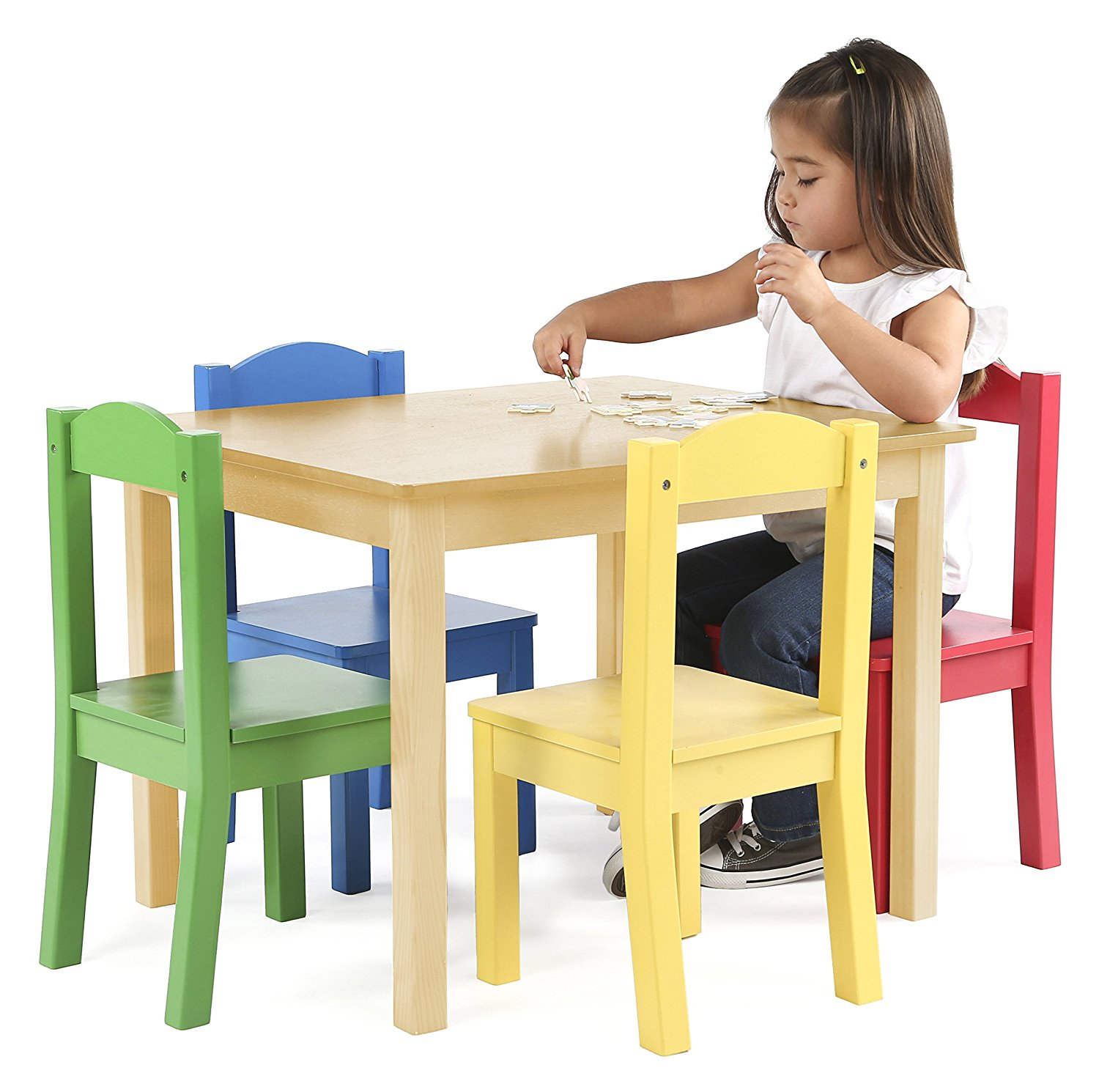 Tot Tutors Primary Wood Table & 4 Chairs