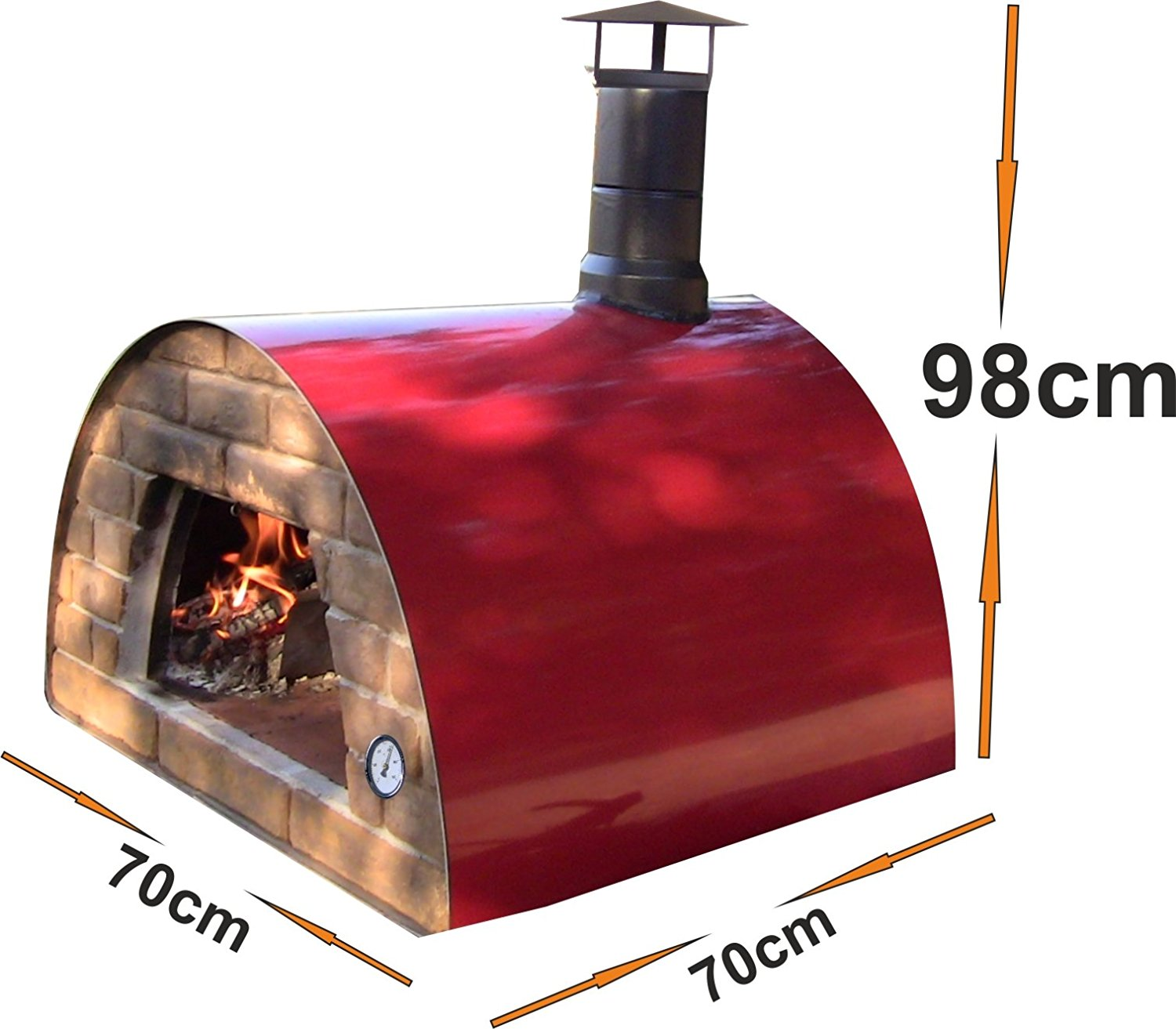 Authentic Pizza Ovens Maximus Portable Outdoor Wood Fired Pizza Oven