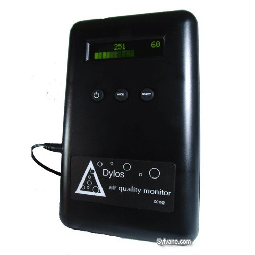 Dylos Pro Air Quality Monitor - Detects Particles Down to 0.5 Micron, LCD Display, Multiple Modes, Available in 2 Colors