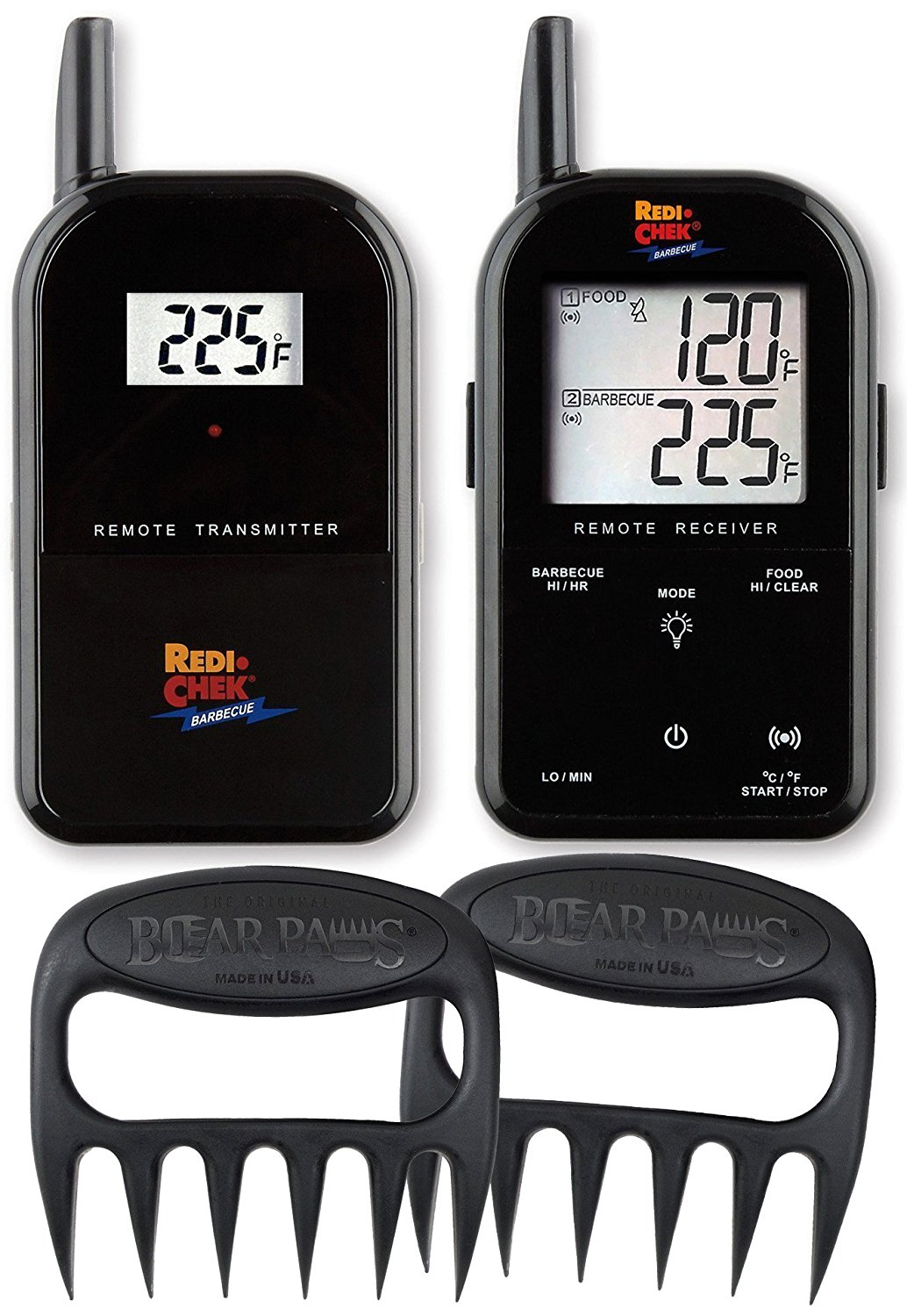 Maverick Wireless Cooking Thermometer - Includes Bear Paw Meat Handlers