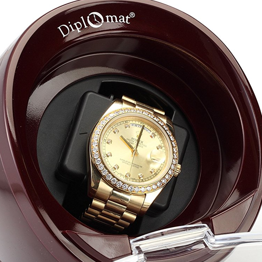 Diplomat Burgundy Single Watch Winder