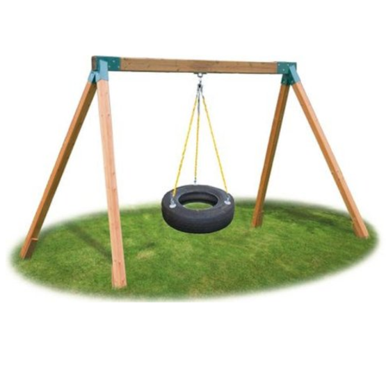 Eastern Jungle Gym Wooden Tire Swing
