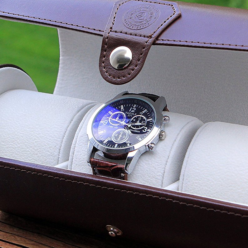 Case Elegance Vegan Leather Watch Box