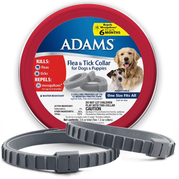 Adams Flea & Tick Control Collar for Dogs
