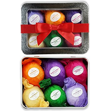 Rejuvelle Six Pack Vegan Natural Organic Bath Bomb Gift Set – Available in Assorted or Sinus, Allergy Packs