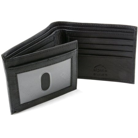 Alpine Swiss Mens Leather Wallet