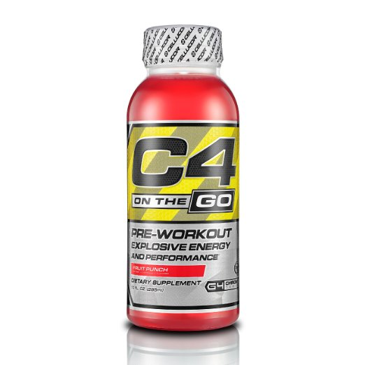 Cellucor C4 On The Go Preworkout Drink – 12 Pack, Ready to Drink, 0 Sugar, 8 Calories