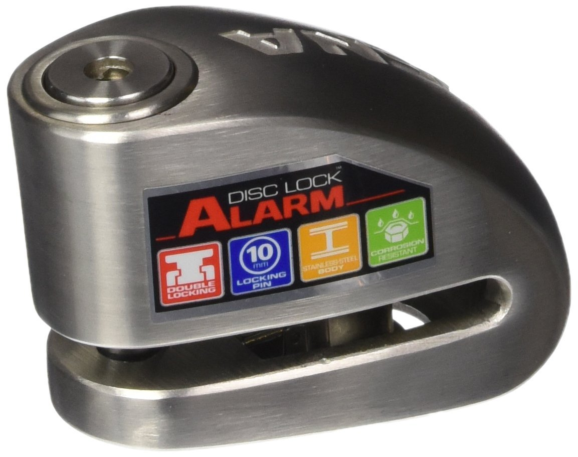 Xena Disc-Lock Alarm for Motorcycle, Stainless Steel, Pick & Freeze Spray Proof