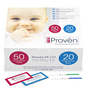 iProvèn Cost Effective Ovulation Predictor Kit - Includes 50 Ovulation Tests and 20 Pregnancy Strips