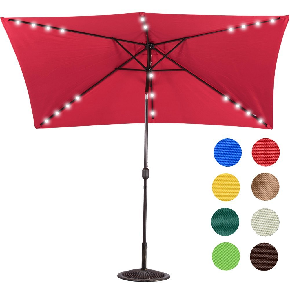 Sundale Outdoor Solar Powered 22 Patio Umbrella