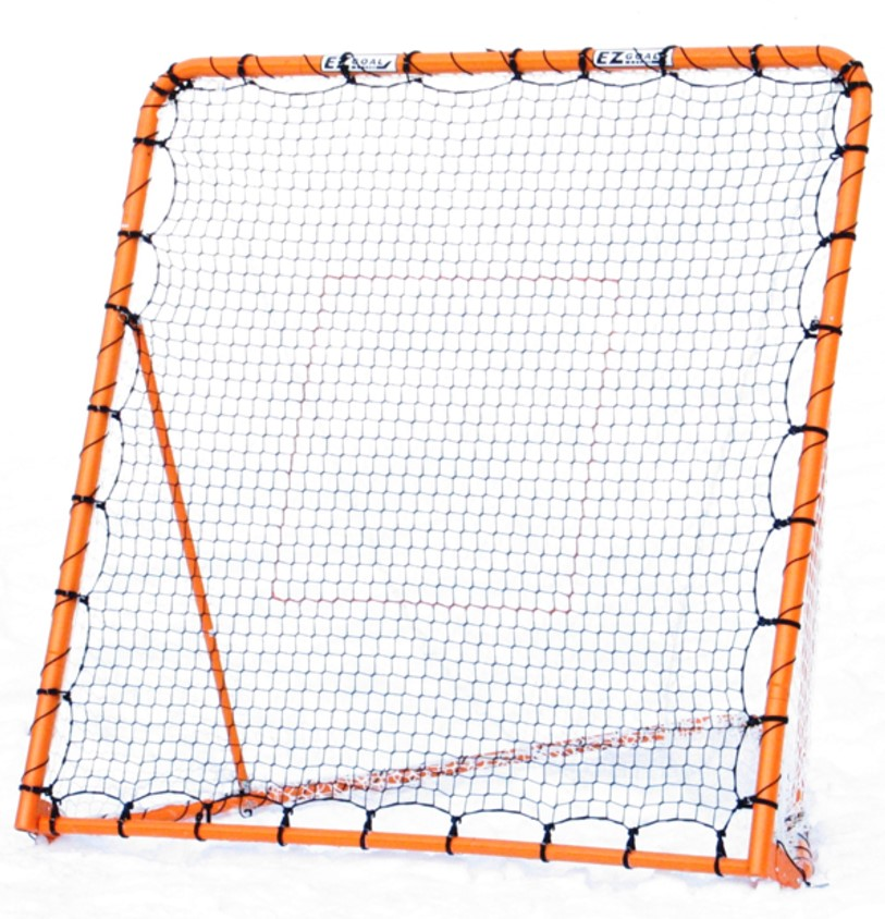 EZ Goal Multi-Purpose Lacrosse Rebounder, Folding Metal Construction, Throwback Kit