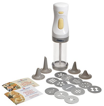 Wilton Cookie Master Plus Cordless Cookie Press with 12 Disks - Battery Operated