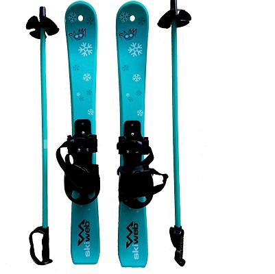 Skiweb Kids First Snow Skis & Poles