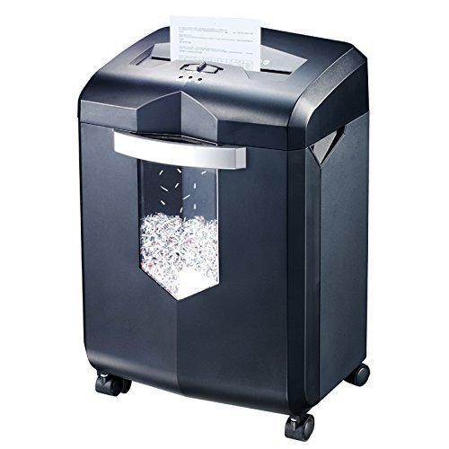 Bonsaii EverShred 18-Sheet Cross-cut Shredder with 6 Gallon Wastebasket Capacity and 4 Casters