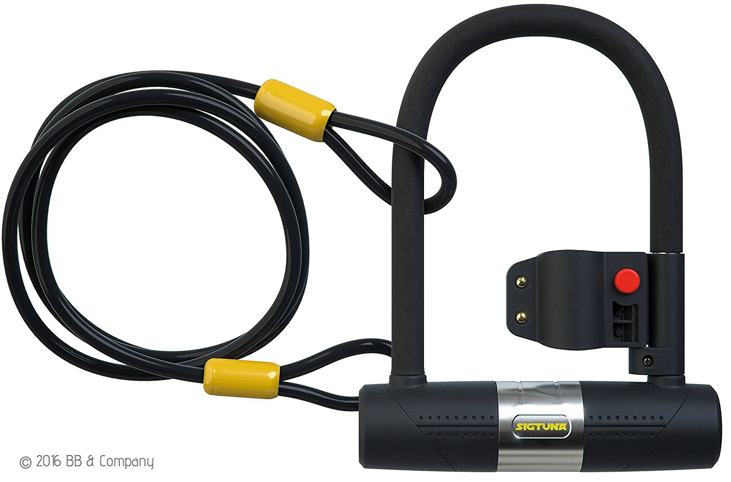 Sigtuna Gear 16mm Bike Lock + Cable Combo