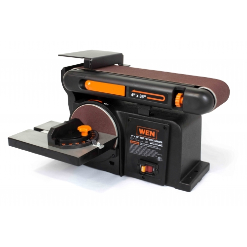 WEN 4 x 36-Inch Belt and 6-Inch Disc Sander with Cast Iron Base — Available in 4 Sizes