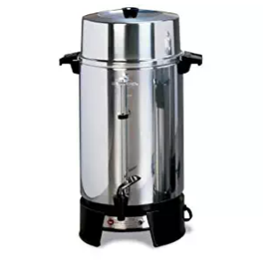 West Bend Commercial Polished Aluminum Coffee Urn – Available in 5 Sizes