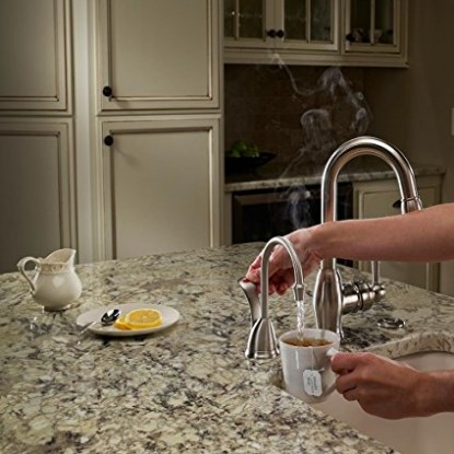 InSinkErator Involve HC Wave Hot/Cool - Chrome Faucet and Tank