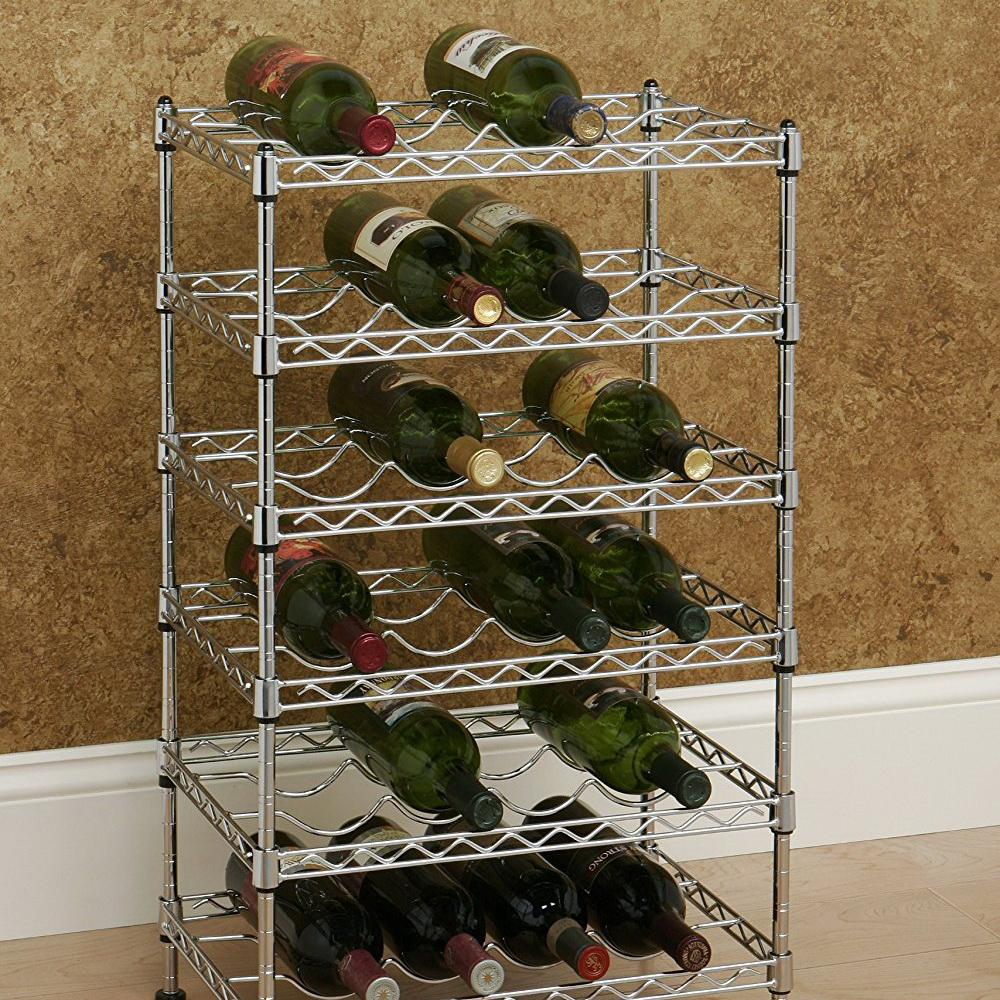 Seville Classics 12-Bottle Stackable Wine Rack