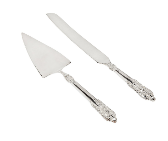 Godinger Baroque Cake Server & Knife
