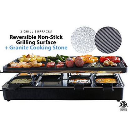 Milliard Granite Cooking Stone Raclette Grill