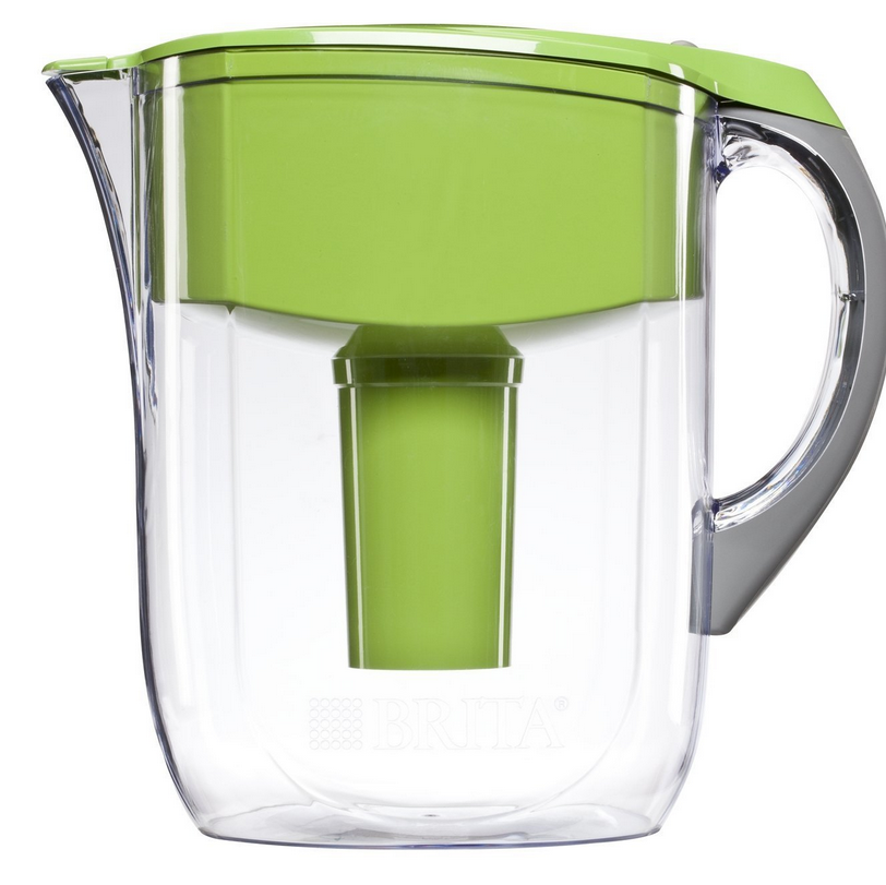 Brita 10 Cup Grand Water Pitcher with 1 Filter, BPA Free, Available in Multiple Colors