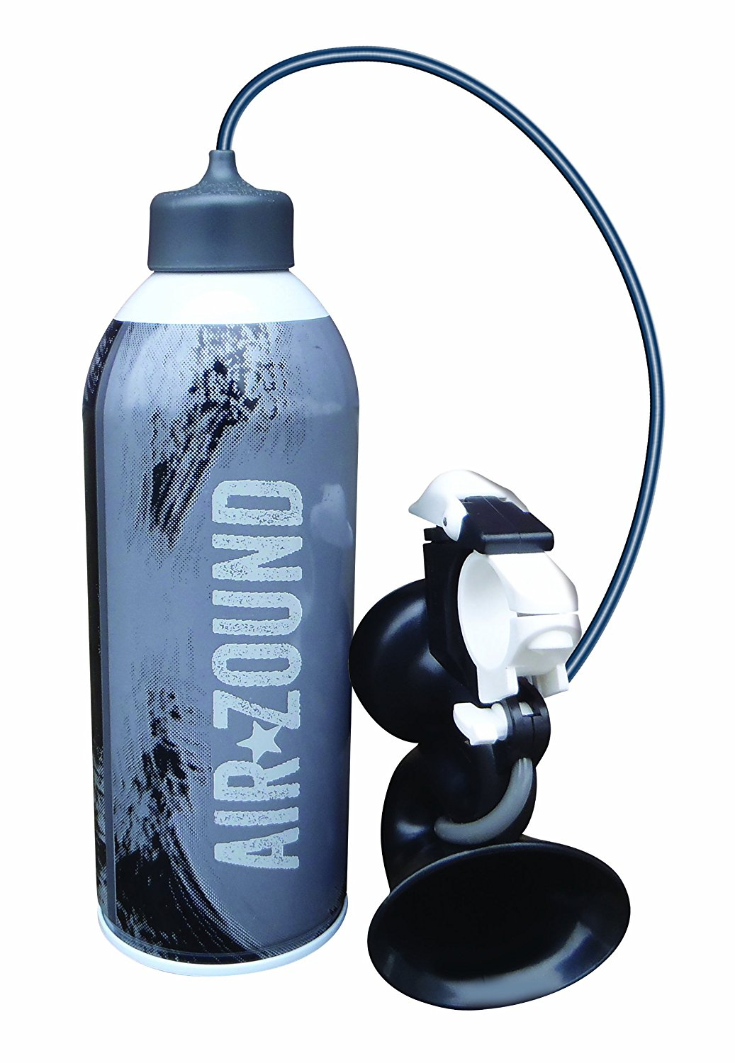 Delta Cycle Airzound Very Loud Bike Horn -  Rechargeable Air Horn Siren Super dB, Refills with Bike Pump