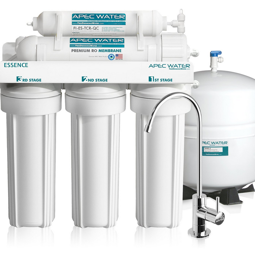 APEC Water Ultra Safe, Premium 5-Stage Reverse Osmosis Drinking Water Filter System (ROES-50)
