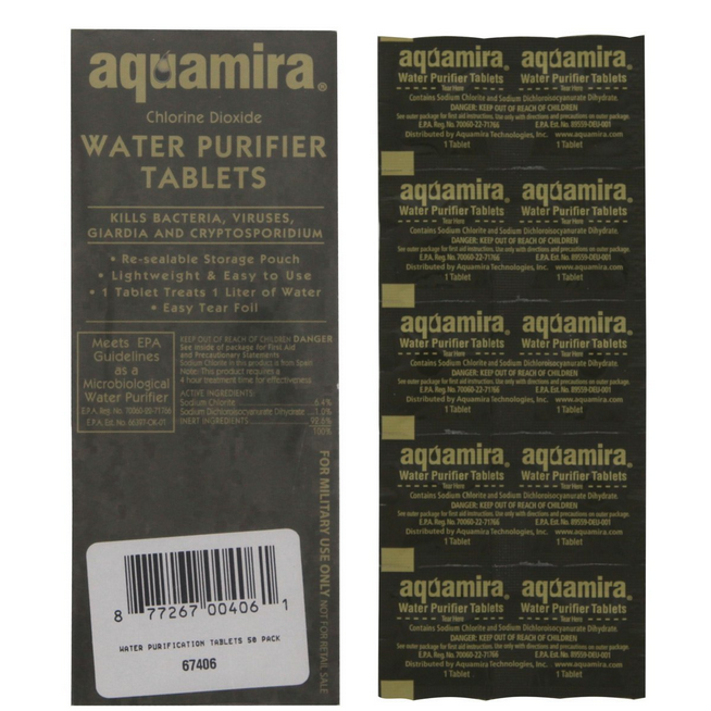 Aquamira® Water Purifier Tablets