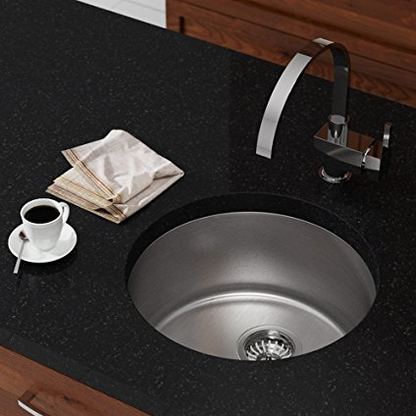 MR Direct Circular Stainless Steel Bar Sink