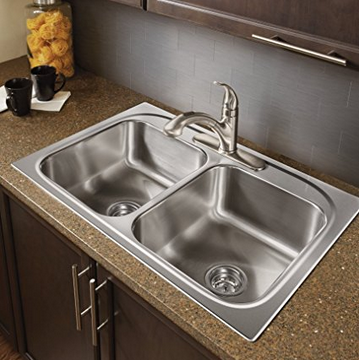Moen Double Bowl Drop-in Bar Sink