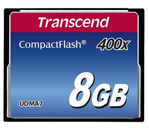 Transcend 8GB 400X Compact Flash Card