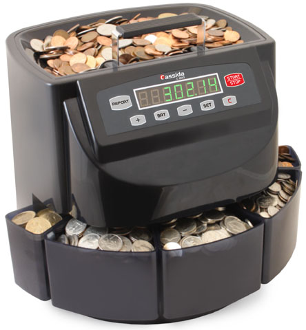 Cassida Coin Sorter, Counter and Roller Set