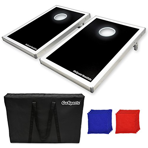 GoSports CornHole Bean Bag Toss Game Set with Superior Aluminum Frame – Available in 5 Designs
