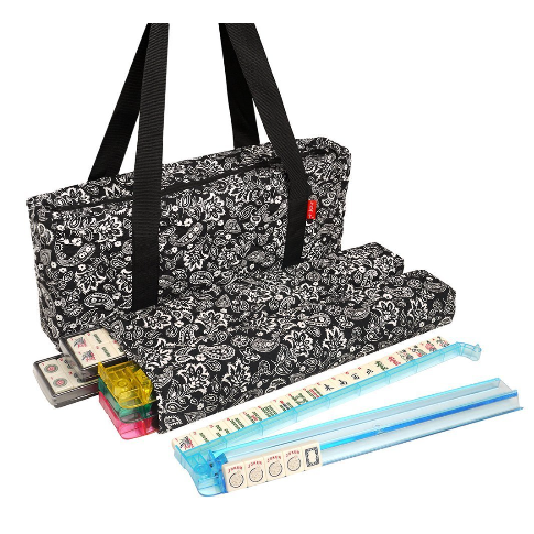 American-Wholesaler Inc. Linda Li American Mah Jongg Set with Soft-Sided Quilted Design & Black Paisley Print Carrying Case