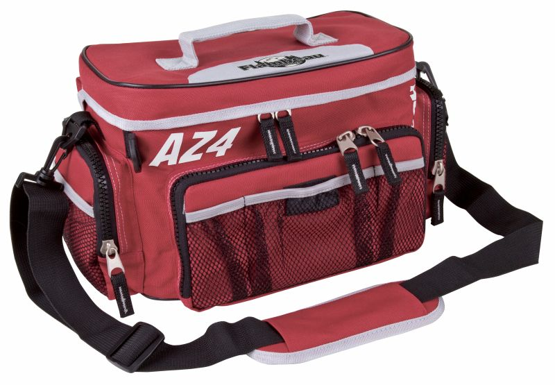 Flambeau AZ4- Top Load Soft Side-New Cosmetics Tackle System, Red - Available in 3 Sizes