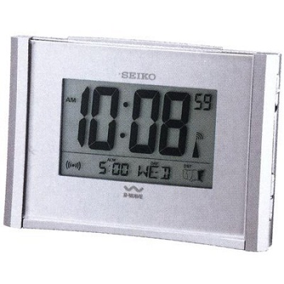 Seiko Get Up and Glow Atomic Alarm Clock