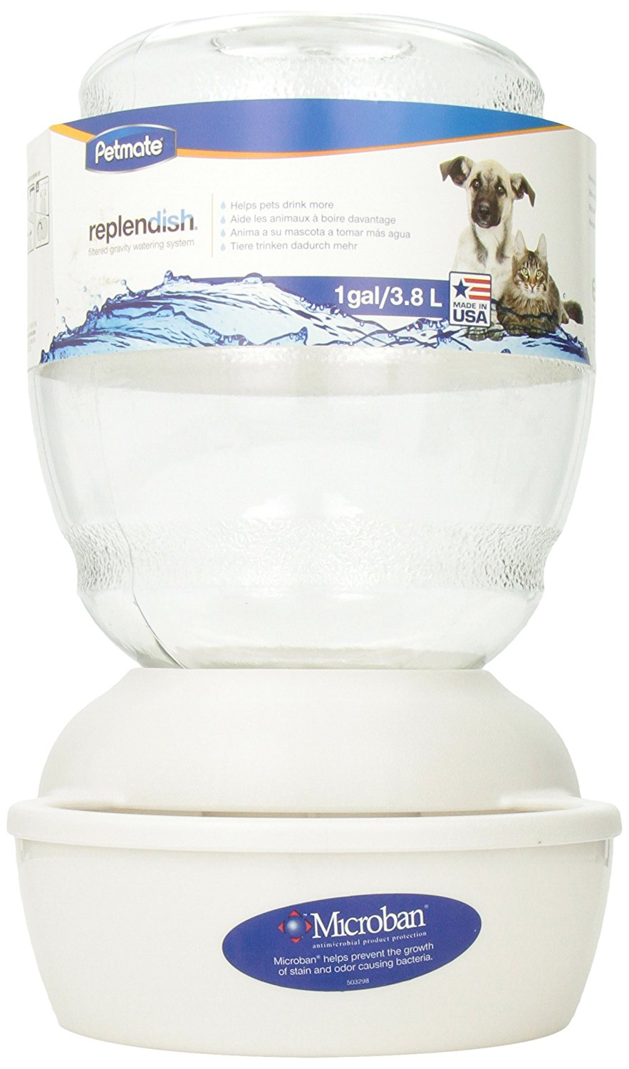 Petmate Replendish Waterer with Microban