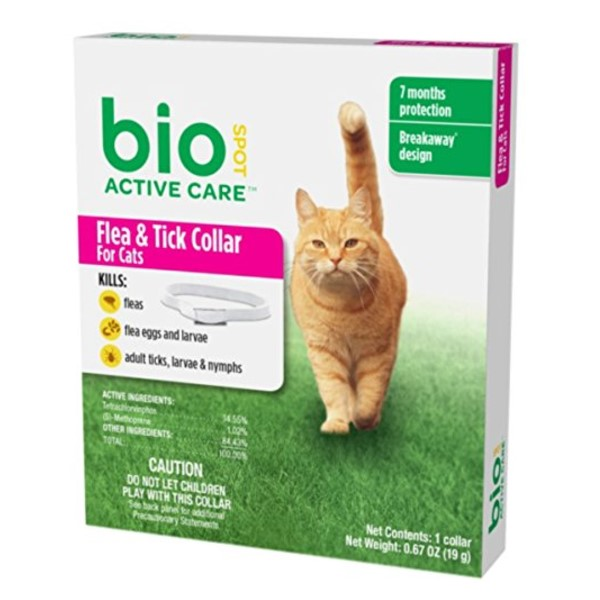 BioSpot Active Care Flea and Tick Collar for Cats