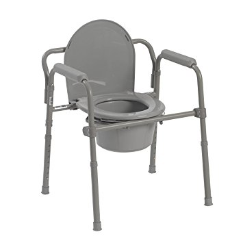Drive Medical Bedside Commode with Splash Guard