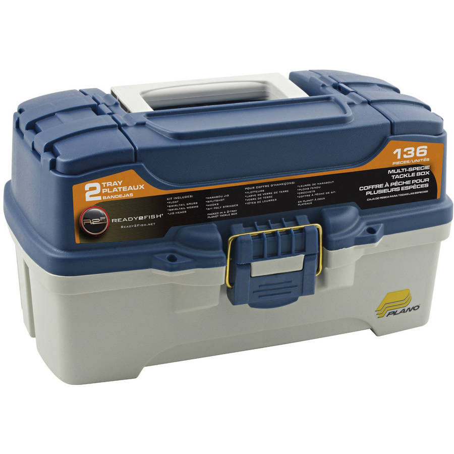 Ready 2 Fish 2-Tray Tackle Box