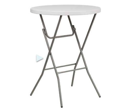 Flash Furniture Round Bar Height Folding Table