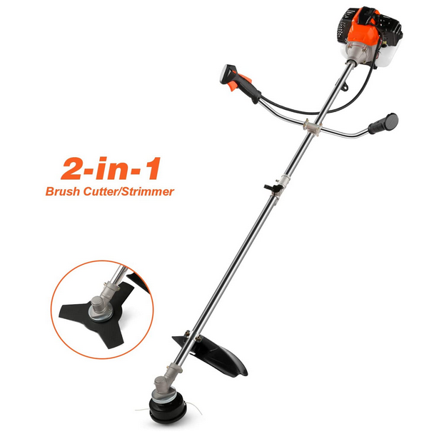 COOCHEER 2-in-1 String Trimmer Brush Cutter