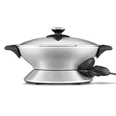 Breville the Hot Wok™ Pro  - 8 Quart Electric Wok with Stainless Steel Base, 15 Temperature Settings